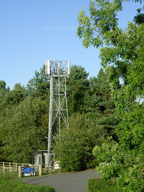 Communications mast near Penkridge, Staffordshire