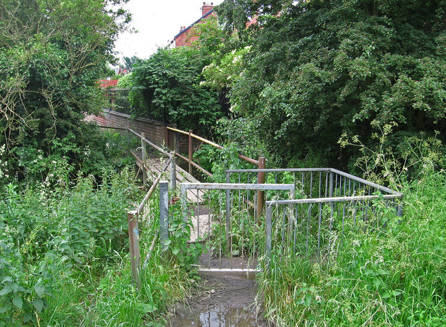 South Elmsall - footbridge over The Beck