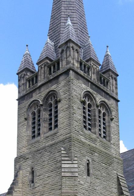 South Elmsall - Trinity Methodist Church - base of spire