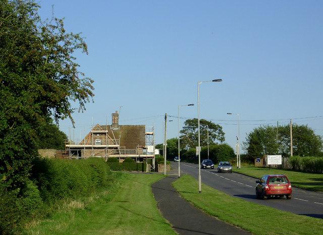 Cannock Road east of Penkridge, Staffordshire