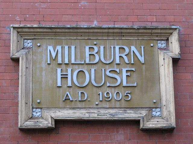 Date stone on Milburn House, Amen Corner, NE1