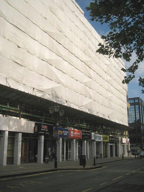 Building maintenance, Colmore Row, Birmingham, September 2013
