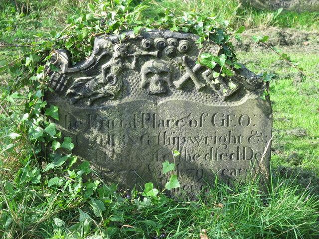 All Saints Church, Pilgrim Street - gravestone in churchyard