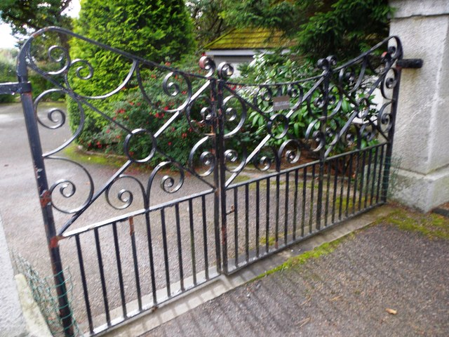 Wrought iron gate, Netherhall
