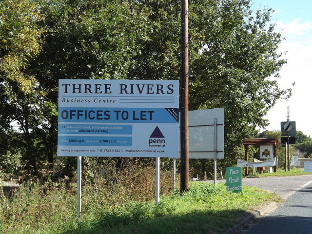 Three Rivers Business Centre sign at Mansfield Park