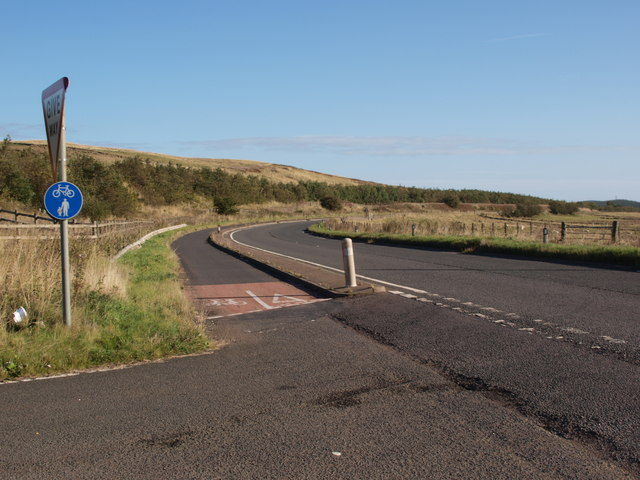 Junction on the A77 cycle lane