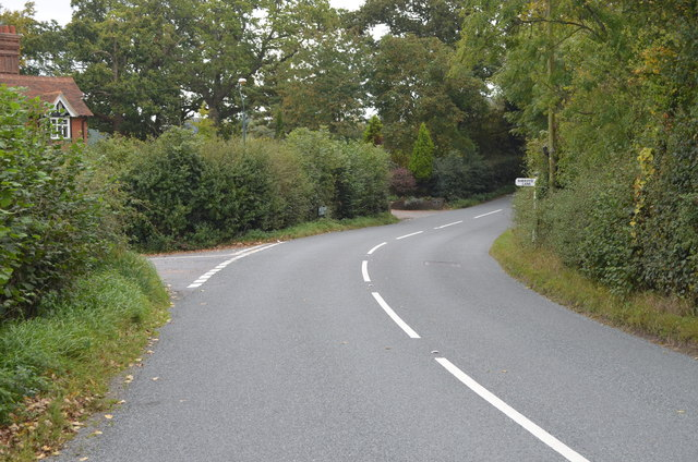 Junction of B2101 and Sheriff's lane