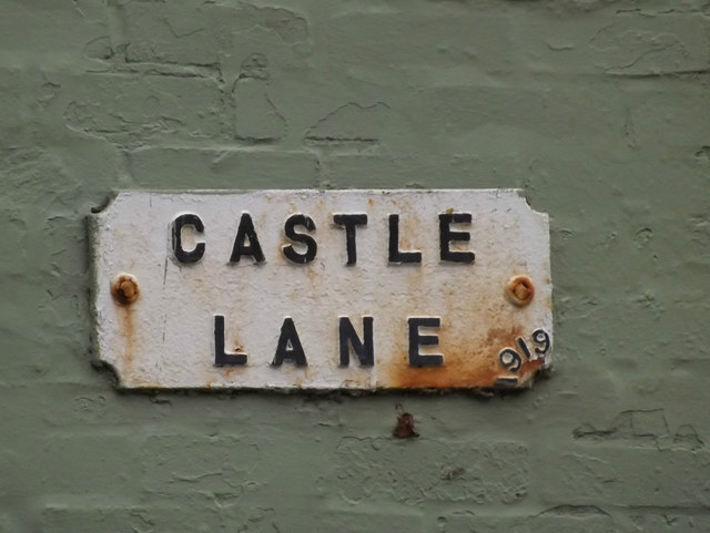 Castle Lane sign