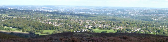 The view from Totley Moss