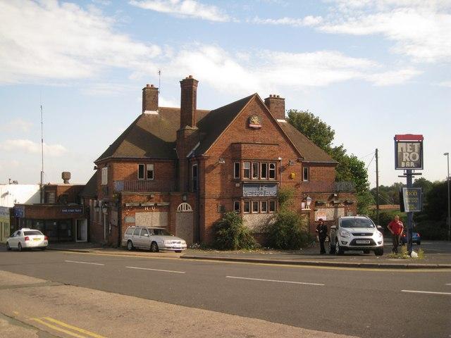 The derelict Metro Bar, Porters Field, Dudley