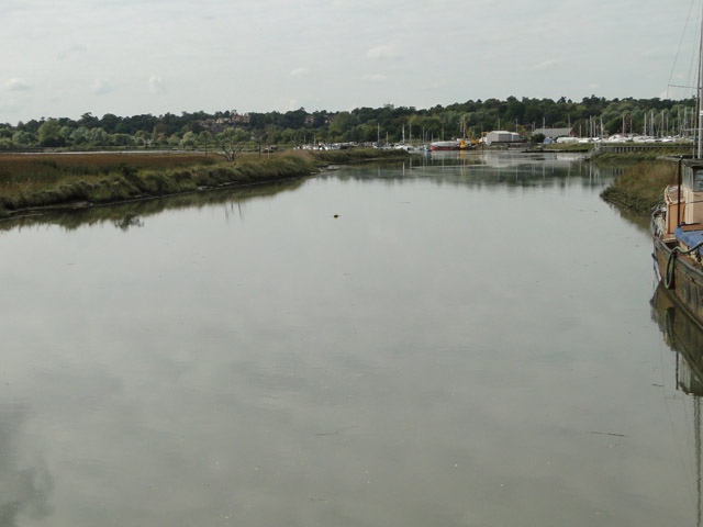 River Deben from Wilford Bridge towards Woodbridge