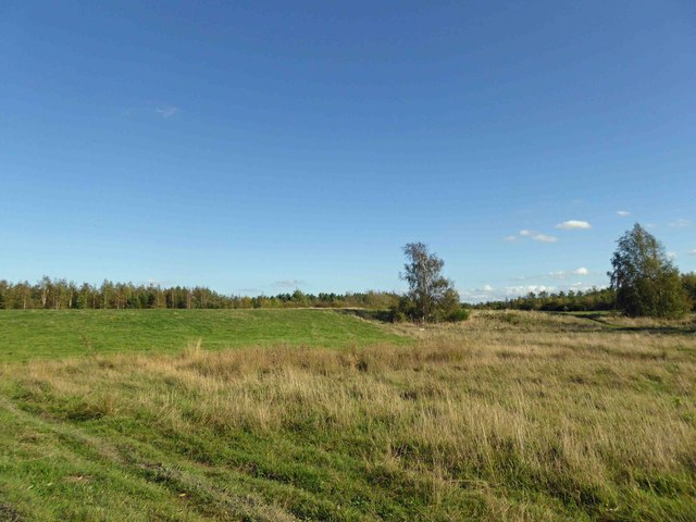 Reclaimed colliery spoil heap 'muck stack'