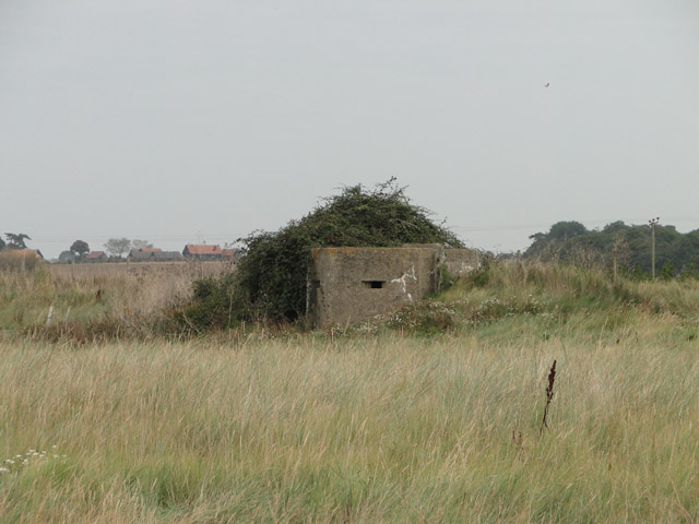 Type FW3/22 pillbox at Bawdsey marshes