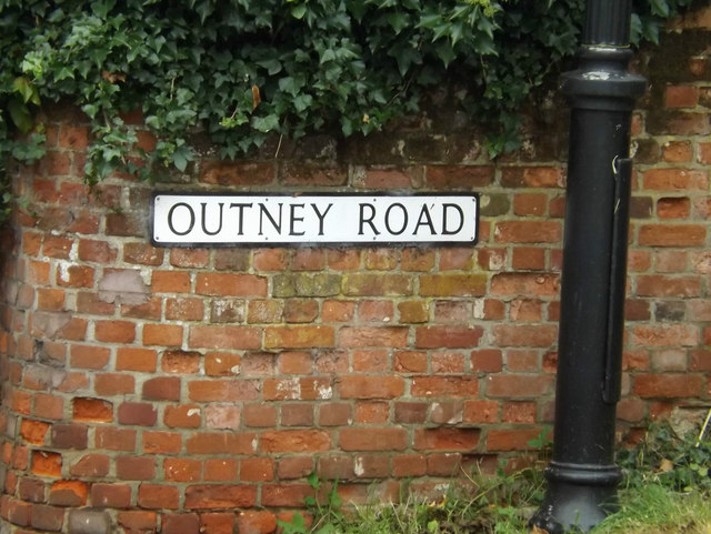 Outney Road sign