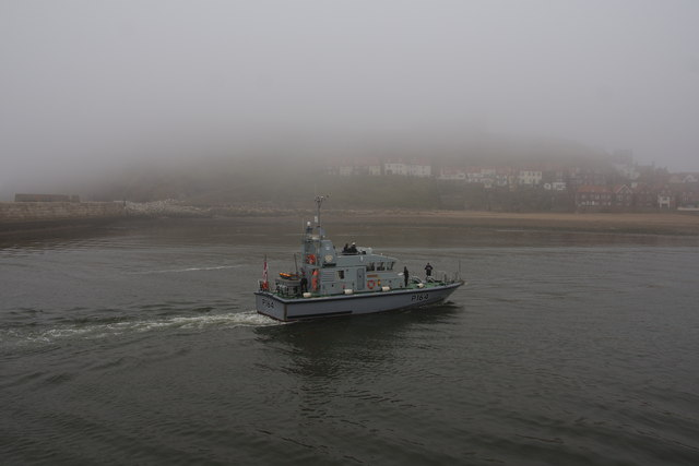 The Yorkshire navy arriving at Whitby