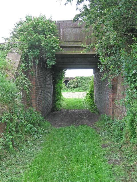 Burscough - bridge of disused railway