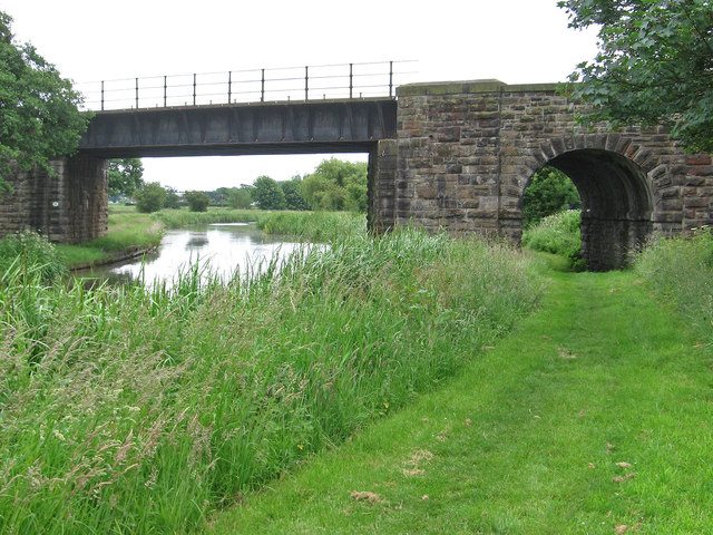Burscough - railway bridge and towpath