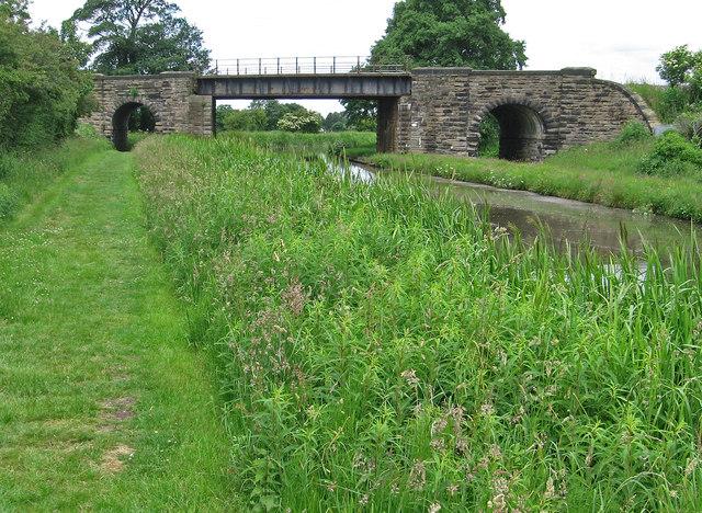 Burscough - towpath and railway bridge
