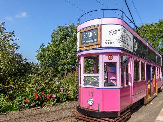 Tram in Colyton Station, Devon