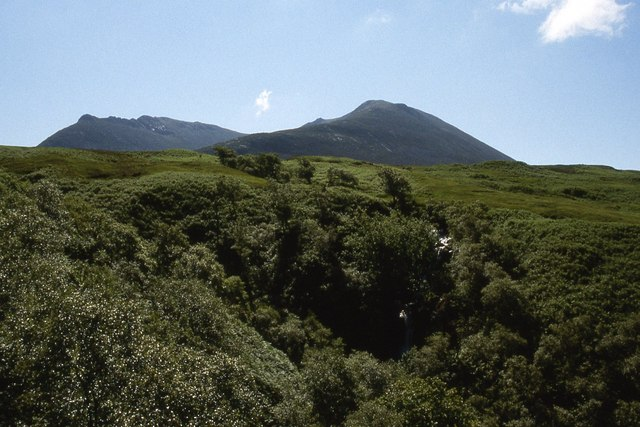 The tree filled gully of Allt Gobhlach