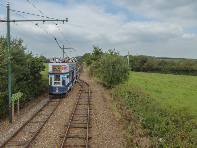 Cross-over, Seaton Tramway, Devon