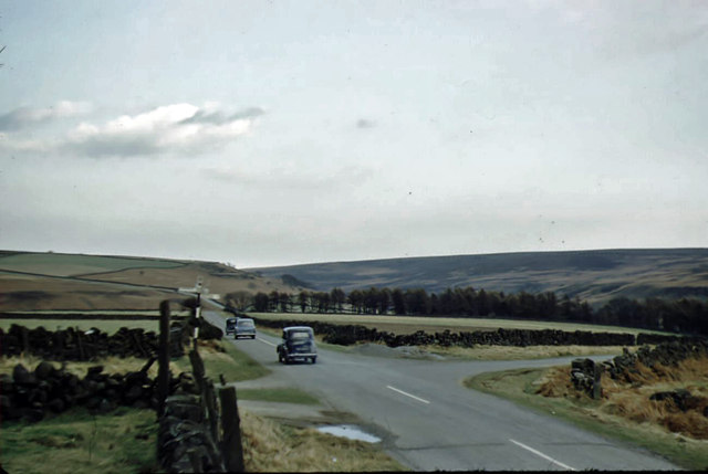 Percy Cross Rigg crossroads in March 1959