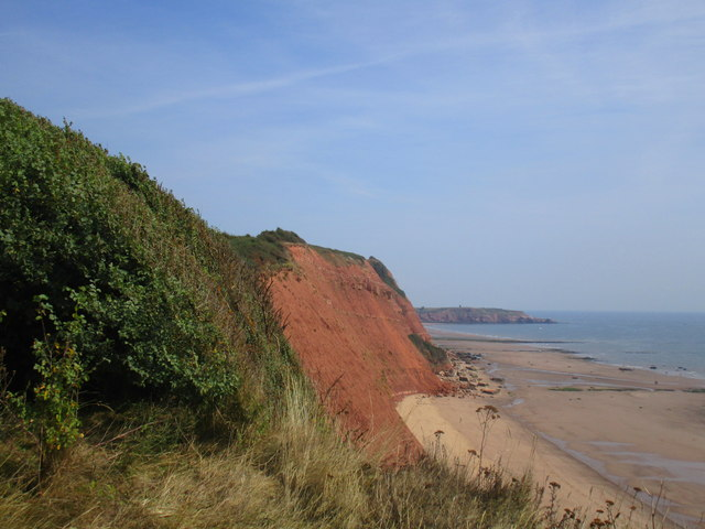 Cliffs by the High Land of Orcombe