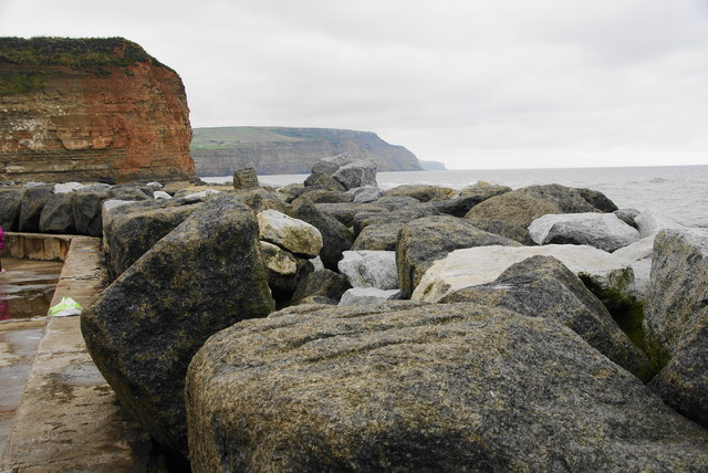 Sea defences at Staithes