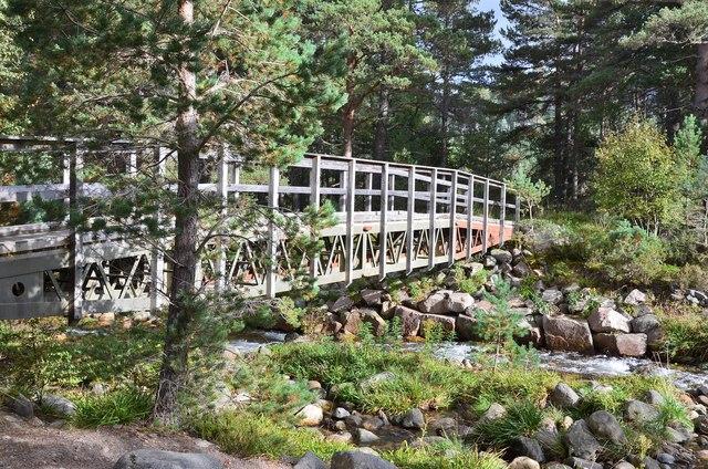 Footbridge over the Allt Mor