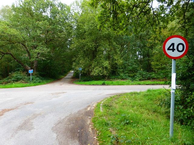 Rushmoor Road crosses Bourley Road