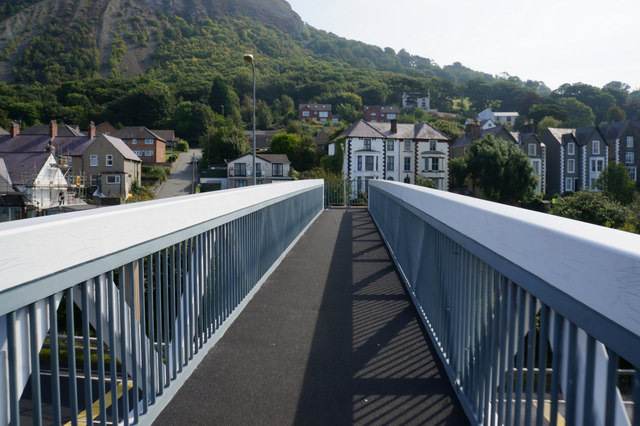 Footbridge over the A55 North Wales Expressway