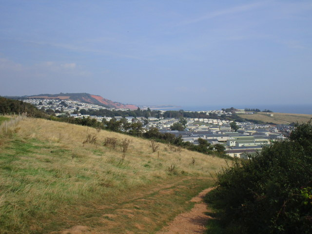Dropping down to Devon Cliffs Holiday Park