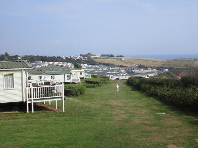 The South West Coast path at Devon Cliffs Holiday Park