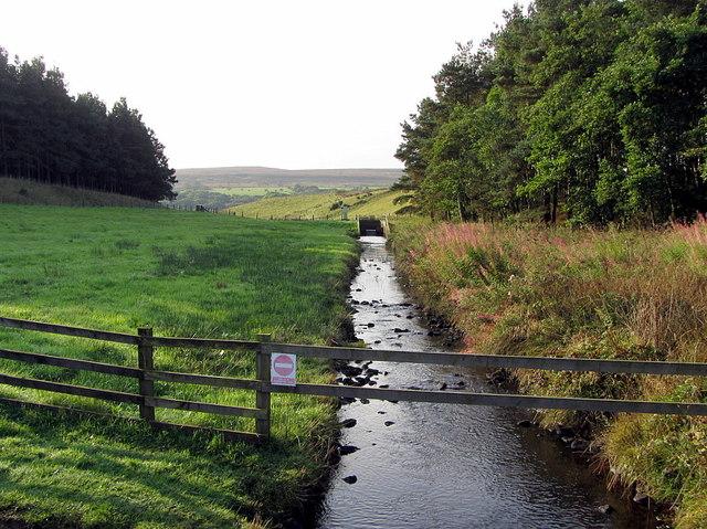 Stream west of Derwent Reservoir dam