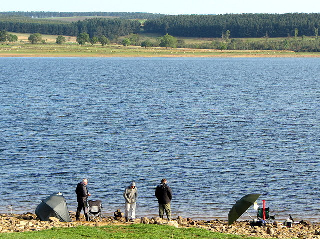 Fishermen at Derwent Reservoir