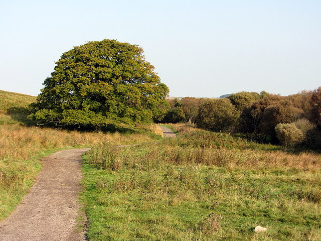 Reservoir path near Pow Hill