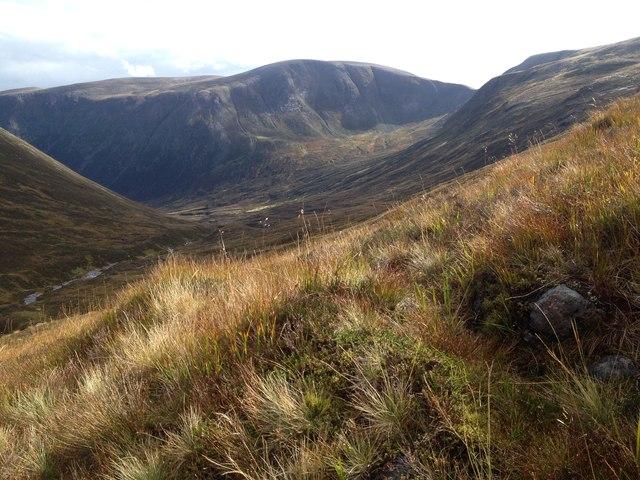 Moorland above Glen Geusachan