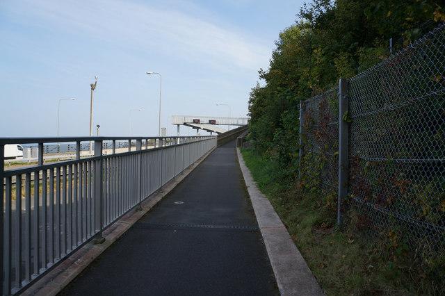 Wales  Coast Path towards Penmaenmawr