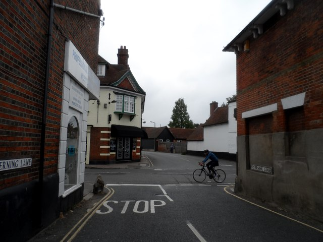 Junction of Fryerning Lane and High Street, Ingatestone