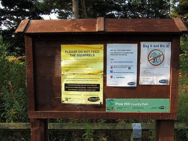 Noticeboard, Pow Hill Country Park