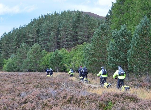 'Bikepackers' in Glen Feshie