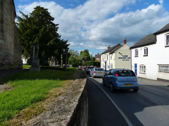 Church Road  in the village of Shilton