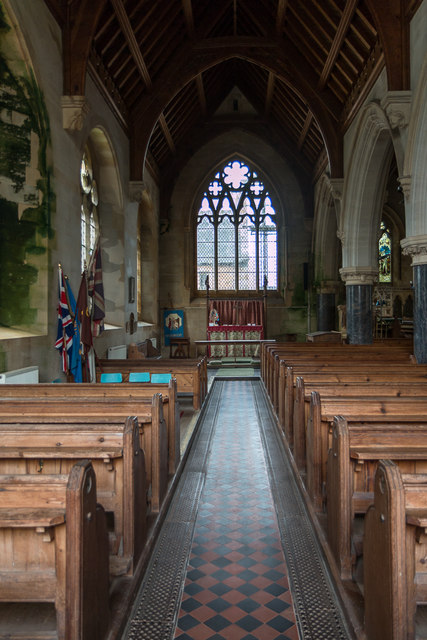 Aisle, St Michael's Church, Otterton, Devon