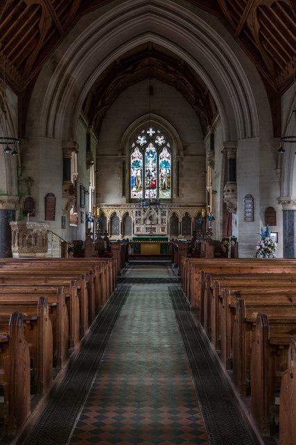 Aisle, St Michael's Church, Otterton, Devon