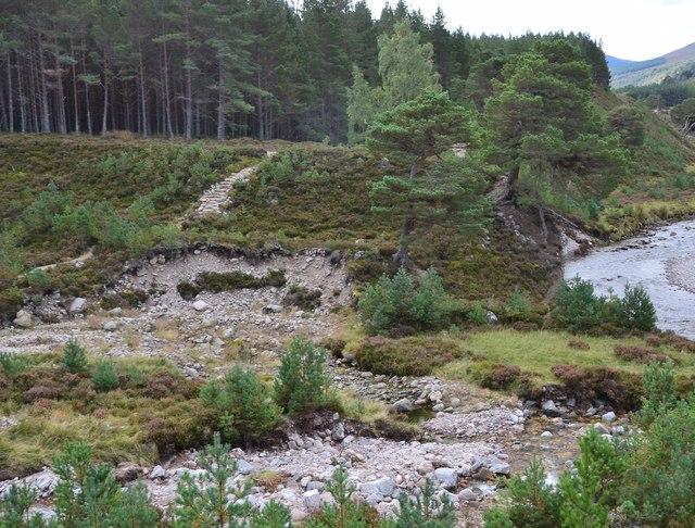 Steps on the path at Allt Garbhlach