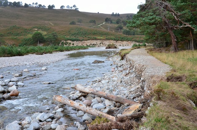 Bank erosion, River Feshie
