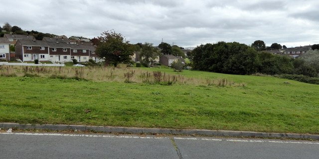 Berwick Avenue and open space, Crownhill, Plymouth