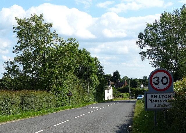 B4065 Leicester Road in Shilton