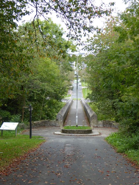 A path and bridge to Whitleigh
