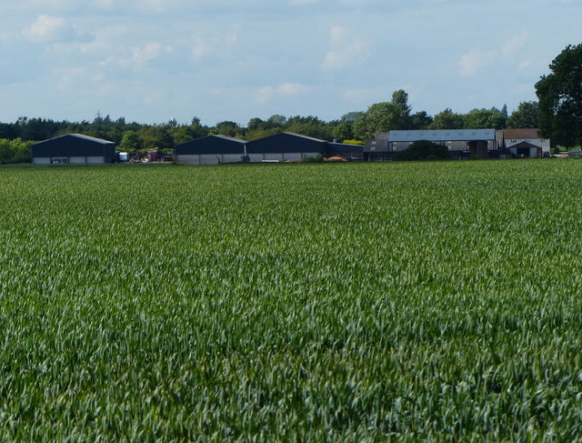 Farmland next to the B4065 Leicester Road
